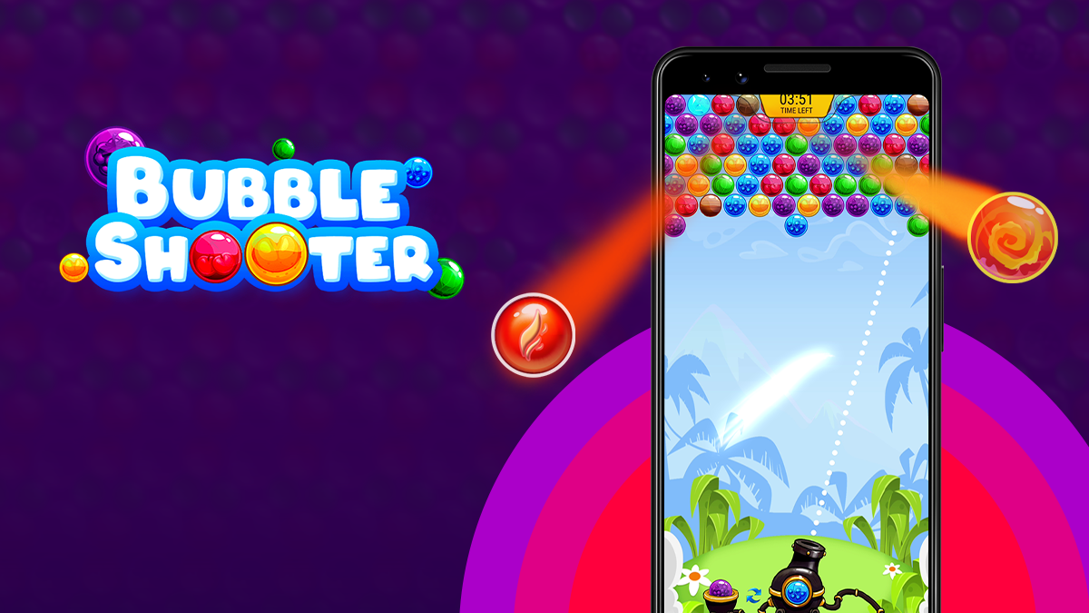 how to play bubble shooter online game